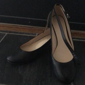 Nine West leather ankle strap pumps